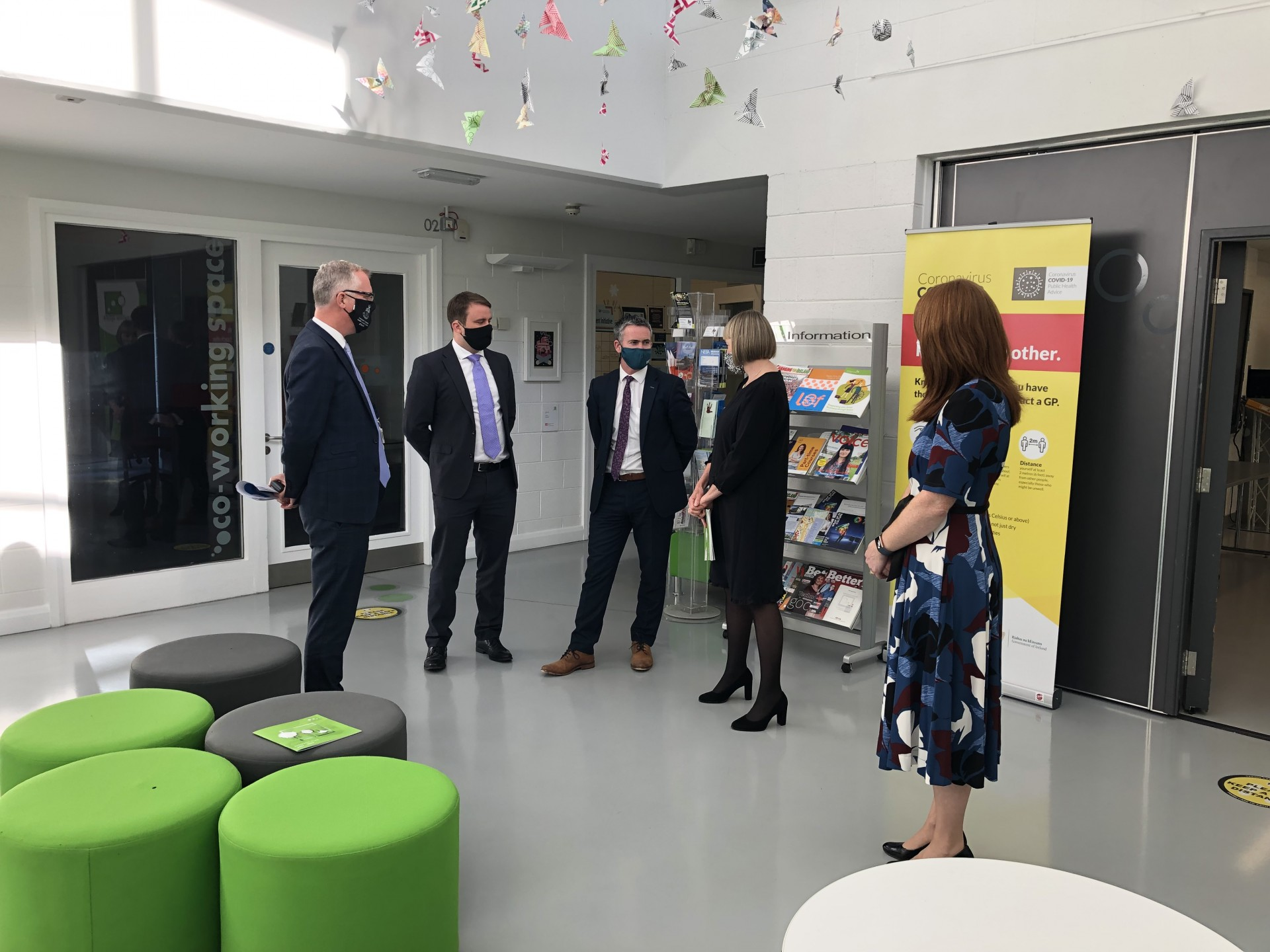 Minister Damien English's visit to Creative Spark