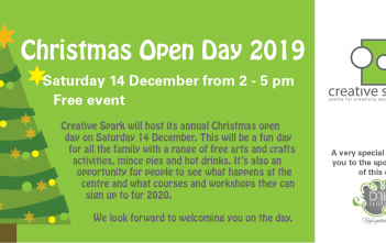 Christmas Open Day Saturday 14 December 2019