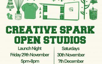 Creative Spark Open studios- Saturday 14th December 2pm-5pm