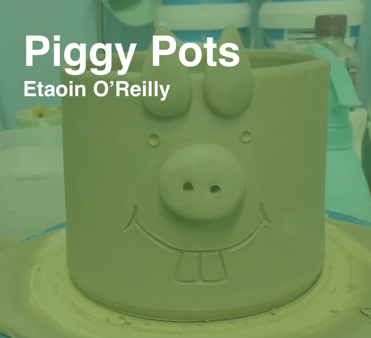 Friday Art Class - Piggy Pots
